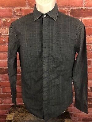 Armani Exchange Men's Button Down Spellout Shirt XS Long Sleeve Gray  A|X. -162