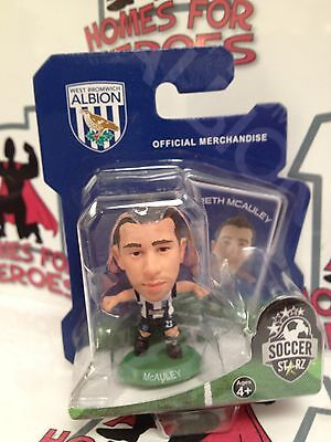 SOCCER STARZ WEST BROMWICH ALBION McAULEY GREEN BASE SEALED IN BLISTER PACK