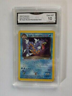 GMA 10 GEM MINT DARK GYARADOS 2000 Pokemon #87 Team Rocket Prerelease Holo H0029