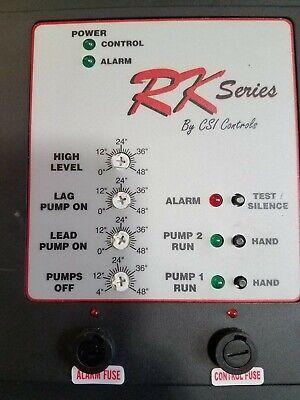 Rkdp230cbg Myers Csi Controls Rk Duplex Grinder Sewer Pump Panel Pressure Bell