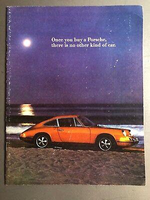 "1972 Porsche 911 ""Once You Buy a Porsche.."" Showroom Brochure Prospekt RARE!! VG"