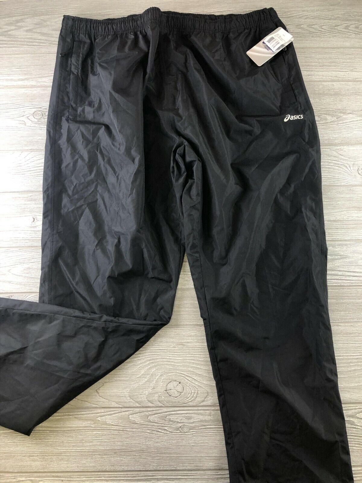 NEW ASICS Waterproof Pants Big & Tall BT 4XL XXXXL Black NEW