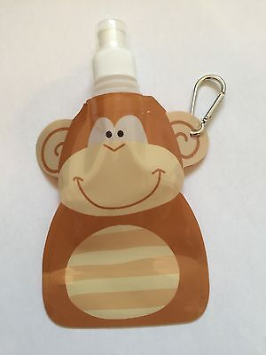 Folding Drink Bottle Travel Holiday Camping Sport Reusable With Hook Kids Monkey