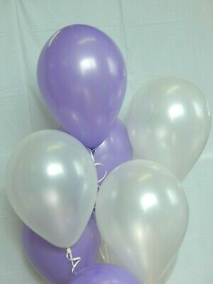 Purple Balloons,Light Purple, White Balloons,Shower Decorations Birthday Party (Purple And White Birthday Decorations)