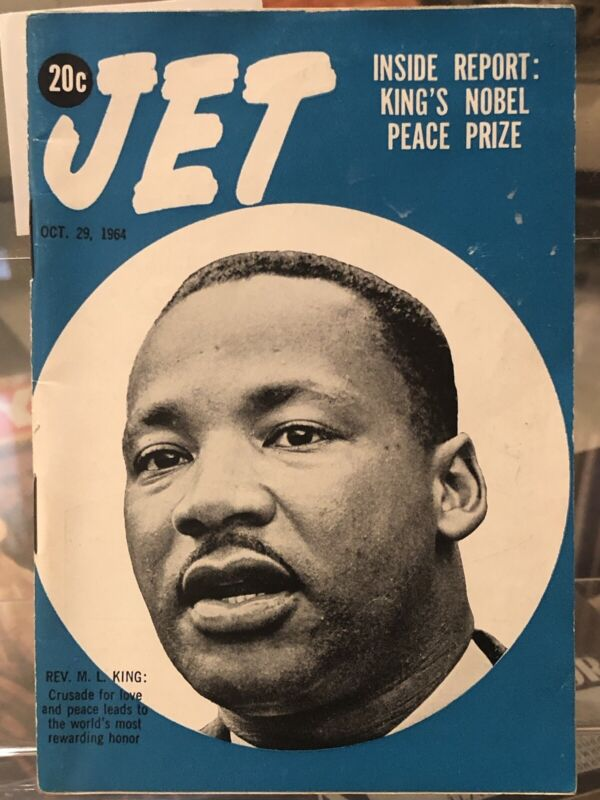 1964~ JET  MAGAZINE, MARTIN LUTHER KING JR. WINS NOBEL PEACE PRIZE