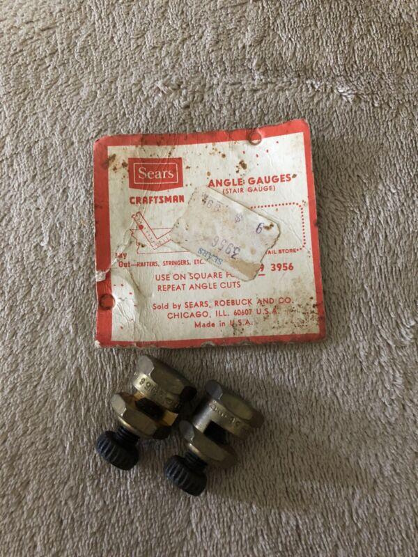 Vintage Craftsman Brass Angle Gauges #335-3956 Carpenter Square Tools