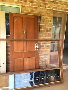Wooden entry door with side panel Arcadia Hornsby Area Preview