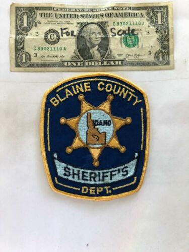 Rare Blaine County Idaho Sheriff