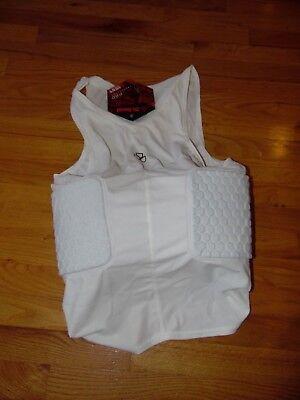 McDavid HexPad V-Neck Body Shirt, Sz Large Football, White, Compression Pads Mcdavid Body Shirt