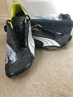 Puma v1.08 2008 grey football boots size 9 with studs and original boot bag