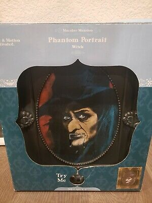 Gemmy Halloween Animated Talking Pop-Out Phantom Portrait Witch Collector's Item