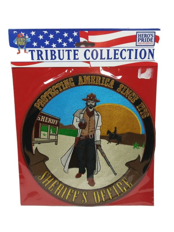 """Heroes Pride Tribute Collection Real American Super Hero 12"""" Patch SHERIFF"""