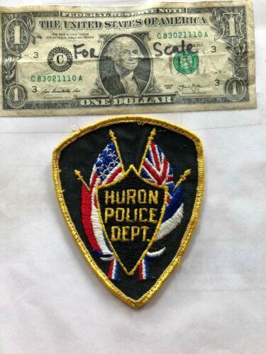 Huron South Dakota Police Patch pre-sewn in good shape
