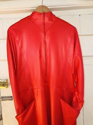 Vintage Red Jumpsuit Boilersuit Large