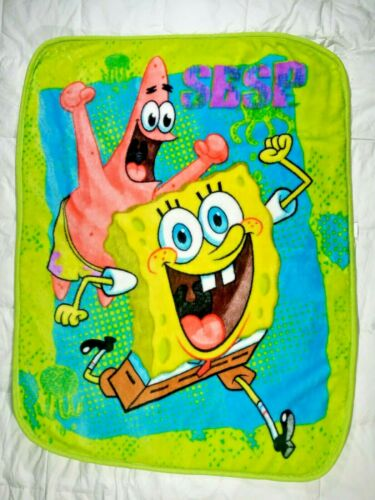 SPONGEBOB Patrick Fleece Throw Blanket 40x50 Northwest SBSP Nickelodeon Neon