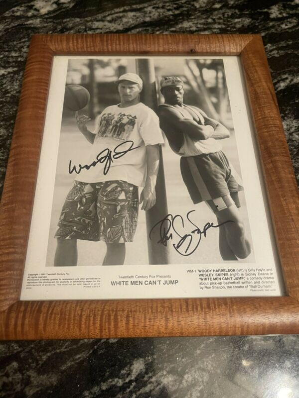 white men cant jump woody harrelson Wesley snipes signed 8x10 photo RARE