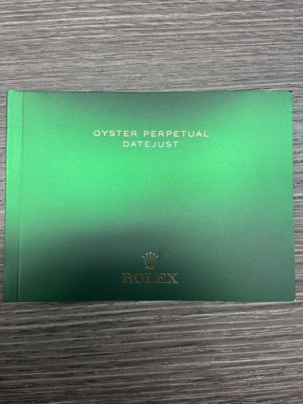 Rolex Oyster Perpetual Datejust Booklet Manual English Dated 2020