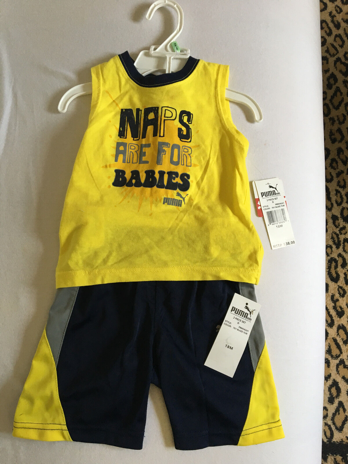Baby clothes, PUMA, 12 month, 2 piece-set, boys tank-top and