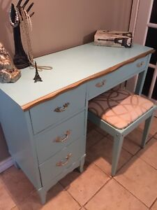 French Provincial vanity and stool