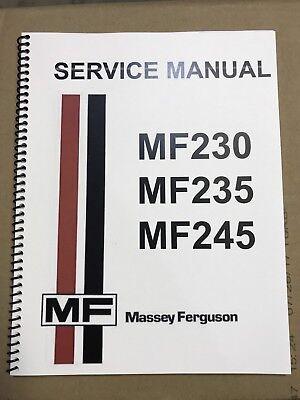 - 235 Massey Ferguson Tractor Technical Service Shop Repair Manual MF235 MF 235