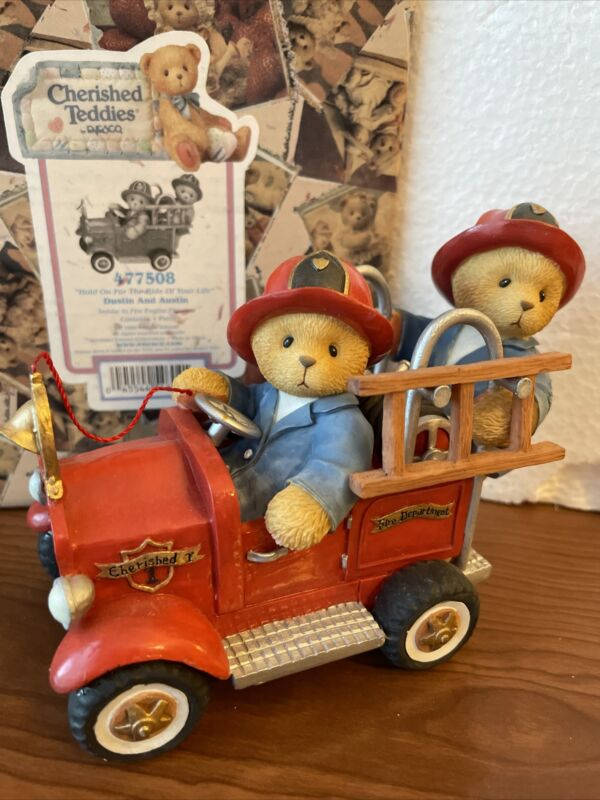 """Cherished Teddies Dustin & Austin """"Hold On For The Ride Of Your Life"""" #477508"""