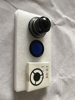 Olympus Bh Ch2 Microscope Condenser 1.25 Dark Field Stop Blue Filter