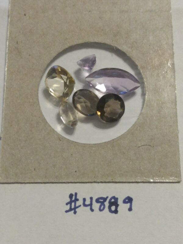 (6) Larger-Sized Loose Gemstones For Jewelry Or Fun