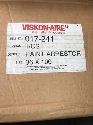 Viskon-aire 361002.5 Spray Booth Paint Exhaust Filter 017-241 1 Rollbag