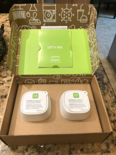 2-Pack WeMo Insight Smart Plugs Wi-Fi Enabled Control Lights Energy Monitoring