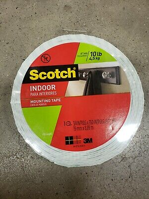 Scotch Indoor Mounting Tape 0.75-inch X 350-inches White 1-roll 110-longdc