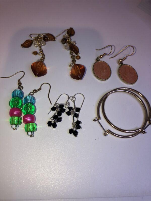 Six Pair Earrings Lot