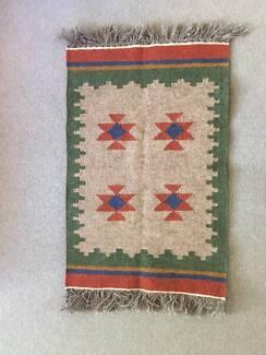Hand-woven tribal Persian kilim rug, 100% Wool
