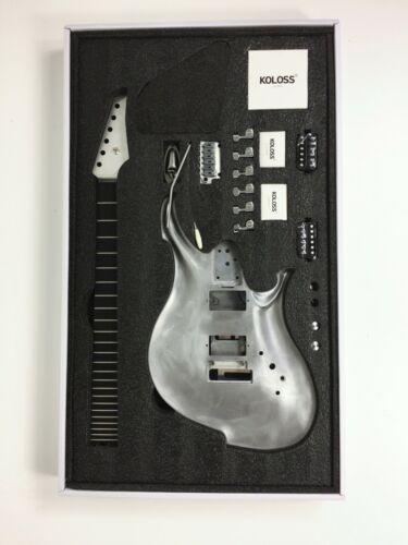 Koloss GT-4 Aluminum Alloy Electric Guitar DIY w/H-H Pickup - Full Kit