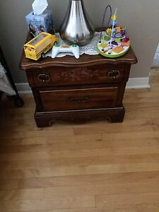 6 pieces wood kids furniture with a mirror for the dresser