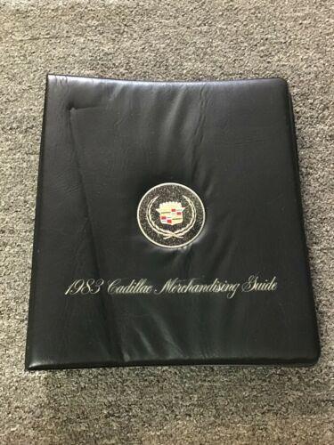 1983  Cadillac original dealership Merchandising guide album.