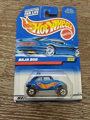 HOT WHEELS 1998 BAJA BUG COLLECTOR 835 W/ SMALL WHEELS & WHITE INTERIOR
