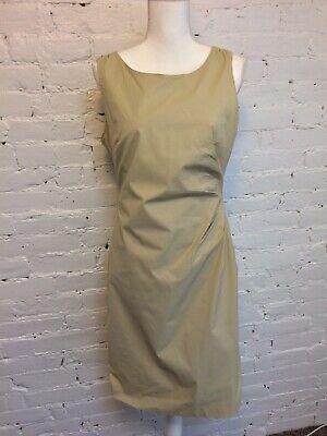 Banana Repbublic Cotton Stretch Ruched Sheath Dress Khaki Beige size -