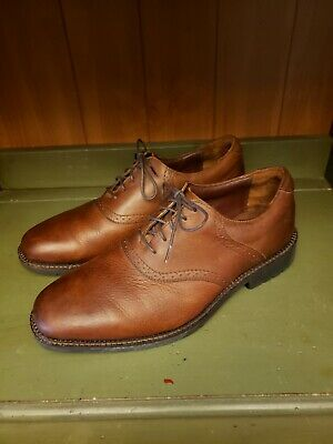 Neil M  Oxford   Med.Worn Saddle  Brown Leather Casual Dress Shoes Men Size 10 Brown Worn Saddle Leather