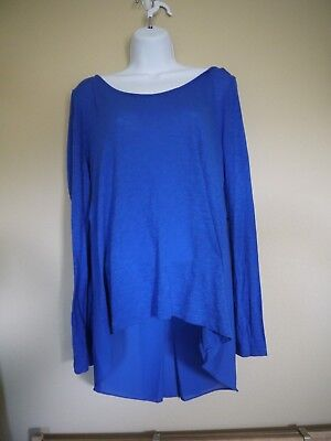 ANA New Approach Long Sleeve Shirt Royal Blue Large