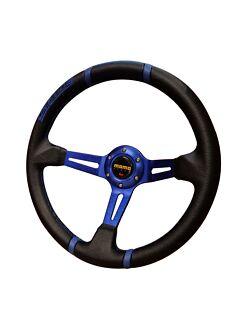 Momo 350mm deep dish steering wheel racing sports PVC drifting