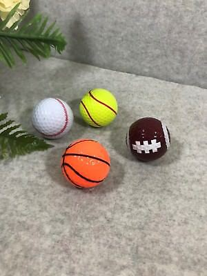 SPORT THEME GOLF BALLS SET OF 4 BASKETBALL, BASEBALL, SOCCAR & - Soccar Ball