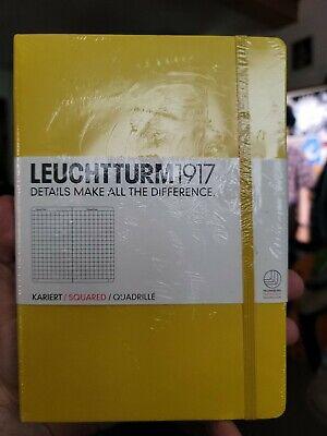 Leuchtturm1917 - Medium A5 Squared Hardcover Notebook Lemon - 251 Numbered