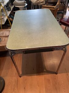 Mid Century Dining Table & 2 Chairs (75W, 76H, 120.5L)