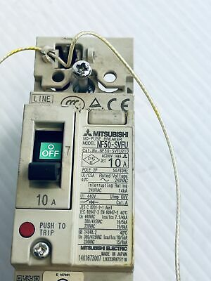 Mitsubishi 2 Pole No-fuse Circuit Breaker Nf50-svfu 10 Amp