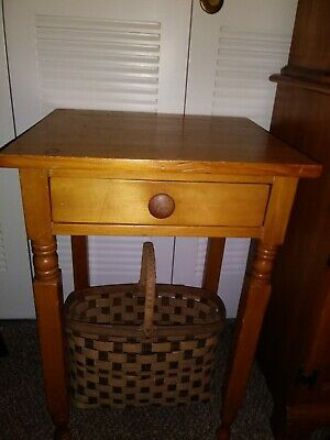 19th Century One Drawer Stand New York Style Legs One Drawer Stand