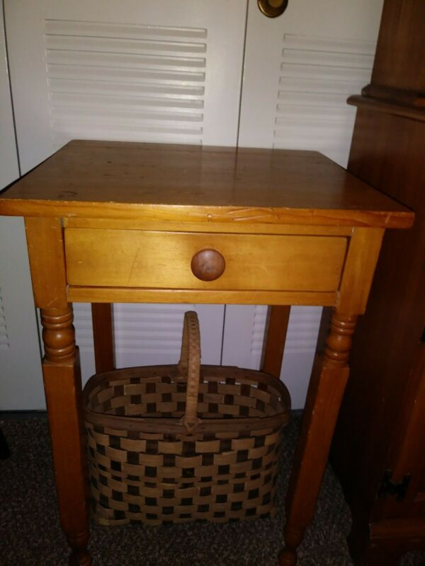 19th Century Wooden One Drawer Stand
