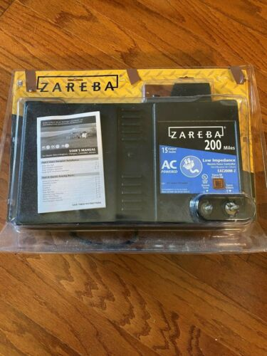Zareba 200 Mile Low Impedance Electric Fence Charger; $427.98 new