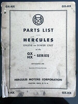Details about  /Hercules Engines HXC Engine Service Manual