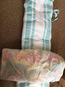 Pottery Barn bumper and crib sheet