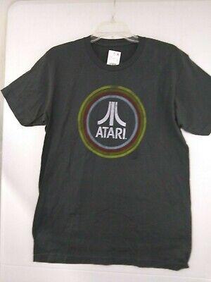 Atari Classic Logo T-Shirt Vintage Look NWT Mens Small Ripple Junction Asphalt